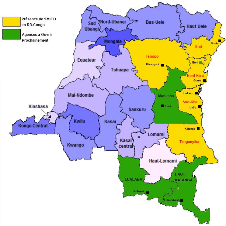 PRESENCE SMICO EN RDC